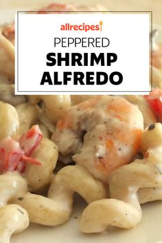 "Peppered Shrimp Alfredo | ""Absolutely easy and fast recipe to prepare that has wonderful flavors. Even better the next day when the flavors have had a chance to marry."" #pasta #pastarecipes #pastainspiration #pastadinner #pastaideas #pastadinner #pastaideas Seafood Recipes, Pasta Recipes, Dessert Recipes, Cooking Recipes, Chicken Crispers, Honey Chipotle Chicken, Shrimp Alfredo Recipe, Pepper Shrimp, Date Dinner"