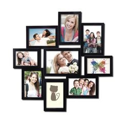 Adeco 7-opening Black 3D Collage Picture Frame - Overstock Shopping - Great Deals on Adeco Photo Frames & Albums