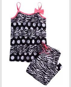 d7195dc5b Shop Zebra Dot Capri Pajama Set and other trendy girls pajamas sleep    undies at Justice. Find the cutest girls sleep   undies to make a statement  today.