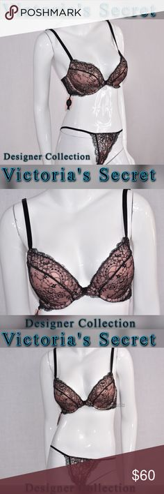 Victoria's Secret Designer Collection bra & panty NEW! Victoria's Secret Designer Collection bra(34D) & panty (Small) SET. Gorgeous lace  that's as delicate as it is daring. Timeless glamour and couture details only Victoria's Secret could create. Victoria's Secret Intimates & Sleepwear Bras