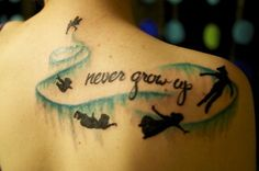 Never Grow Up Peter Pan Tattoo
