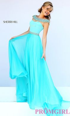 Prom Dresses, Plus Size Dresses, Prom Shoes -PromGirl   : Long Formal Gown with Cap Sleeves by Sherri Hill