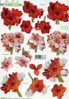 Etsy - Shop for handmade, vintage, custom, and unique gifts for everyone Floral Print Design, Floral Prints, 3d Paper, Paper Crafts, Decoupage Printables, Decoupage Ideas, 3d Sheets, Painted Christmas Ornaments, Picture Postcards