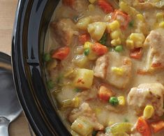 Our Slow Cooker Creamy Turkey Stew is one of the most hearty and delicious recipes to come out of a slow cooker. The tender pieces of turkey are elevated in flavour with the help of the vegetables and spices. Smoked Salmon Chowder, Bacon Corn Chowder, Bacon Soup, Slow Cooker Recipes, Crockpot Recipes, Cooking Recipes, Turkey Stew Slow Cooker, One Pot Meals, Easy Meals