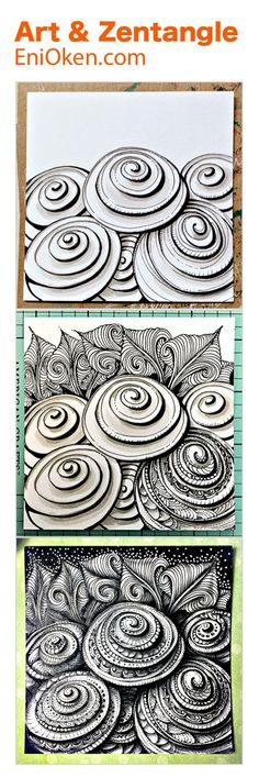 zentangle art enioken com