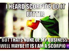 Just a few hours it will be Scorpio season