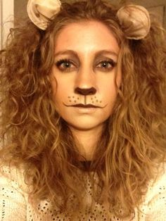 Lion makeup|Pretty cool fancy dress idea