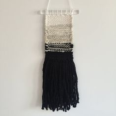 This weaving is made with cream, white and black natural fibers. Weaving measures approximately x Christmas Gifts, Holiday, Weaving, Fern, Trending Outfits, Fashion, Xmas Gifts, Moda, Christmas Presents