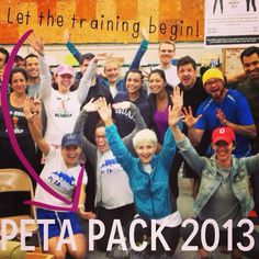 We hope everyone had a fabulous 1st day of training!   If you haven't registered yet, there is still time: www.peta.org/race