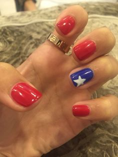 Fourth of July Nails! Red white and blue!!