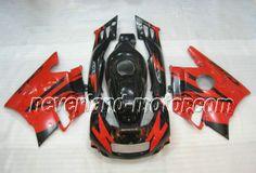 Carenado de ABS de Honda CBR600 F2 1991-1994 - Rojo/Negro