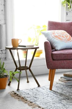 James Metal Side Table - Urban Outfitters