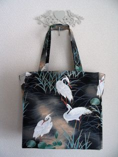 Japanese Herons in the Marsh TIGHT 'N' TIDY by CraftyTokyoMama, $15.00
