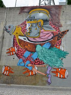 Street Art by MAR - Mural da Lionesa, Matosinhos, Portugal