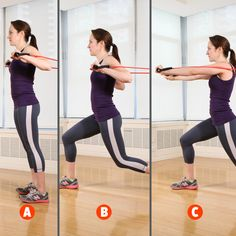 6 Resistance-Band Moves for a Full-Body Burn You're going to love this versatile and affordable fitness tool Resistance Tube, Best Resistance Bands, Resistance Band Exercises, Wall Workout, Body Workout At Home, Triceps Workout, Wand Training, Fast Workouts, Simple Workouts