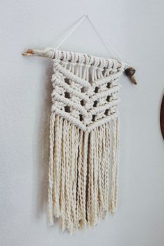 Macrame Wall Hanging by natureandknots on Etsy