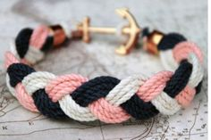 rope bracelet with an anchor!