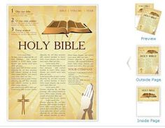 Bible Church Newsletter Template  Ss Newsletter