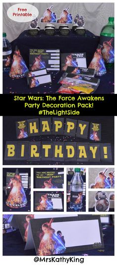 Free Star Wars The Force Awakens Printable Party Decorations