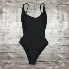 One Piece Swimwear High Cut Swimsuit