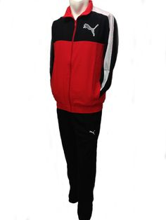 Mens Puma Full Zip TrackSuit Woven Track Top & Bottoms Football Training Suit | eBay