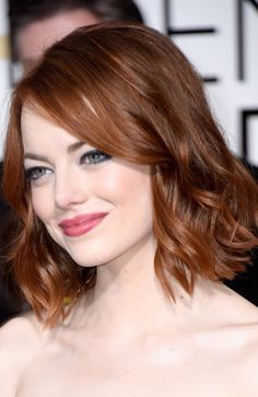 Emma Stone at the Golden Globes Flawless