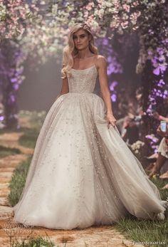 paolo sebastian spring 2018 couture spaghetti strap scoop neck full embellishment princess ball gown a  line wedding dress (15) mv -- Paolo Sebastian Spring 2018 Couture Collection