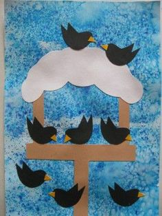 Krmítko s ptáčky - zima