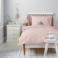 Ballerina Bed Linen Set from The White Company Childrens Bed Linen, Ballerina Silhouette, Little White Company, Bed Linen Sets, Linen Bedding, Be Perfect, Toddler Bed, Bedroom, Furniture