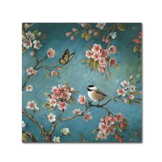 Trademark Fine Art 'Blossom II' Canvas Art by Lisa Audit, Blue