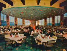 Marineland Restaurant, Palos Verdes.  Note the shells on the ceiling!