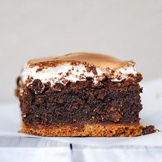 mmm...ought to make s'more of these soon! Ultimate S'mores Brownie,