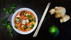Суп с карри, лапшой, шиитаке и тофу на кокосовом молоке (Coconut Curry Noodle Soup) - Вкусные заметки