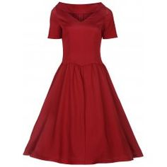 'Betsy' Red Rockabilly Style Swing Jive Dress