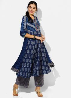 4b17f923de Items similar to Beautiful blue colored cotton Salwar Suit Set/Ethnic blue  colored Kurta/Tunic/Boho Style/Batik Print/Dabu Print/Block  Print/Bollywood/ on ...