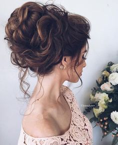 Wedding Ideas – Wedding updo hairstyle idea 9 via Ulyana Aster wedding hairstyles photo 2019 Wedding updo hairstyle idea 9 via Ulyana Aster – Deer Pearl Flowers / www. Wedding Hairstyles For Long Hair, Fancy Hairstyles, Wedding Hair And Makeup, Hair Makeup, Hairstyle Wedding, Bridal Hairstyles, Medium Updo Hairstyles, Messy Wedding Updo, Big Wedding Hair
