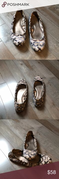 Authentic Coach Shoes Authentic Multi Grey colored coach slip on. Soles show wear. Shoes still have a lot of life left in them. Coach Shoes Flats & Loafers