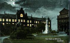 Salford UK Peek Park and museum old postcard   eBay
