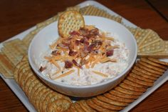 Cheesy Bacon Ranch Dip Recipe - A Game Day Party Favorite!