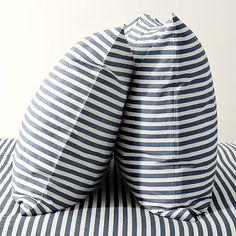 Stripe Sheet Set - White/Dusty Navy