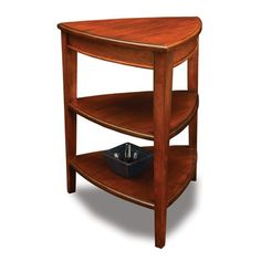 Leick Favorite Finds Shield Tiered End Table in Glazed Auburn $143.99