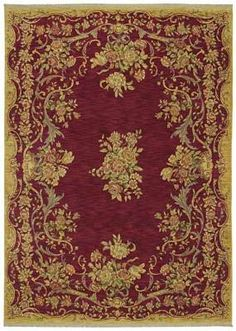 Kathy Ireland Garden Romance Rug       Woven nylon. Available in Ancient Red or Old Republic Black.