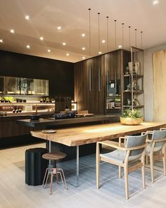 Home Interior Wall .Home Interior Wall Luxury Homes Interior, Home Interior, Kitchen Interior, Interior Design Living Room, Interior Plants, Kitchen Dinning Room, New Kitchen, Kitchen Decor, Kitchen Island