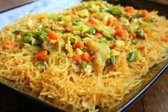 Manila Spoon: Pancit (Philippine Noodle Dish) - being half filipina, this is included in my list of comfort foods.