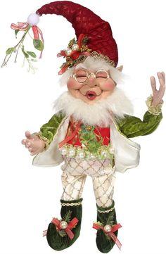 Mistletoe and Holly Elf - Mark Roberts Christmas Kiss, Christmas Fairy, Very Merry Christmas, Christmas Carol, Vintage Christmas, Christmas Holidays, Christmas Decorations, Christmas Ornaments, Xmas
