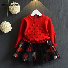 94af86b75 Amuybeen Girls Clothing Sets O-neck Cotton 2017 Toddler Girl Suits Autumn  Winter Fashion Long