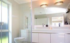 Make sure your bathroom has great lighting. Bathroom, Decor, Lighted Bathroom Mirror, House, Home, Mirror, Bathroom Lighting, Bathroom Mirror, Home Decor