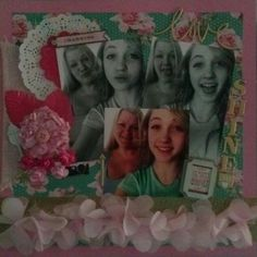 Scrapbook layout....mom and daughter