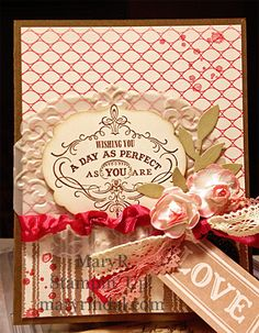 {scrap and stamp with mary}: Artisan Embellishment Kit - Girly Frilly cards