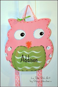 Personalized Owl Bow Holder- Made to Match Brooke Bedding Pottery Barn